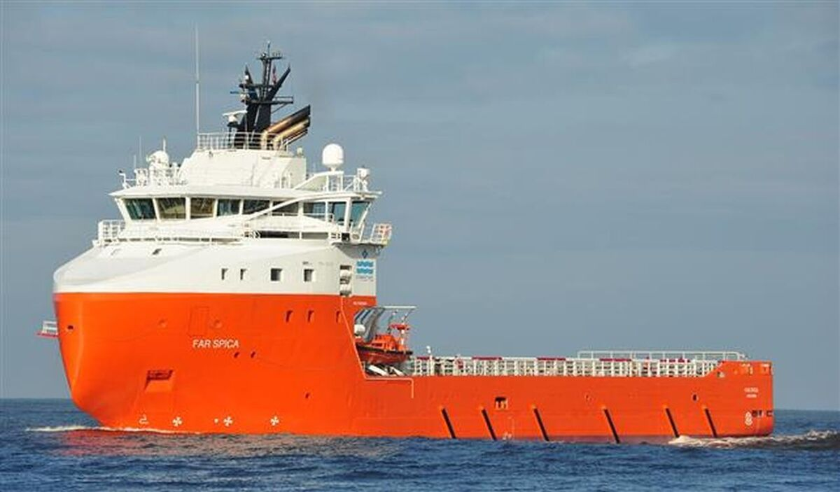 Far Spica PSV will support drilling in the UK North Sea for another 12 months (source: Solstad)