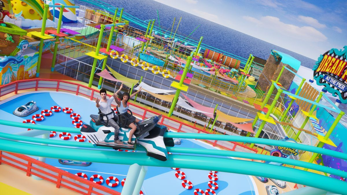Global Dream will have the first-ever theme park and longest roller coaster at sea (source: Genting)