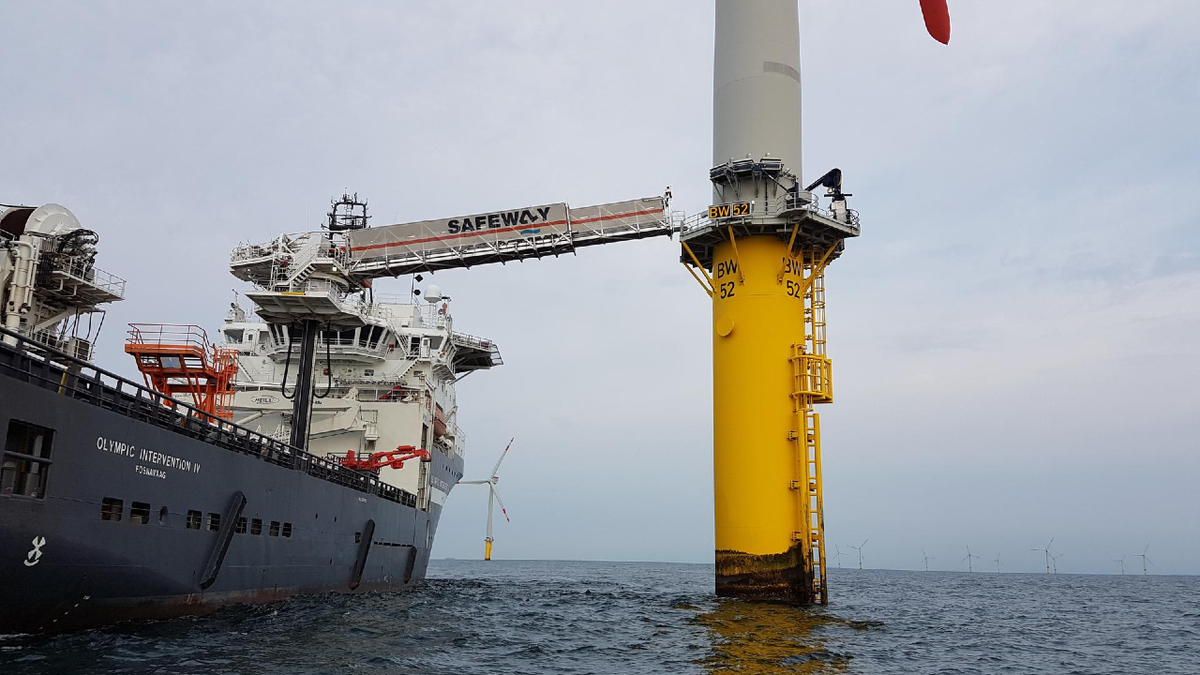 Safeway Seagull system will be deployed to transfer personnel and cargo for a Taiwanese windfarm development (source: Safeway)