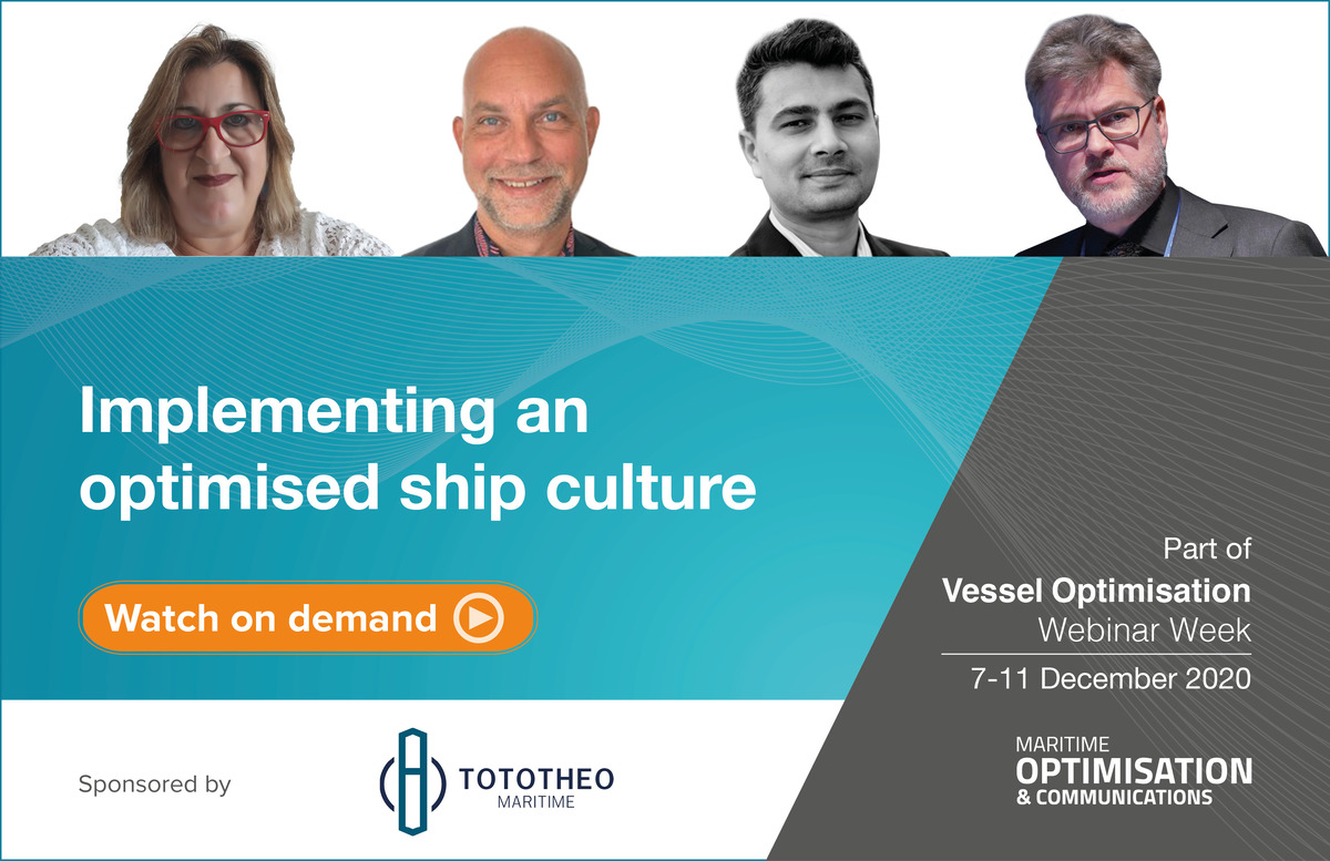 Implementing an optimised ship culture webinar panel (source: Riviera)