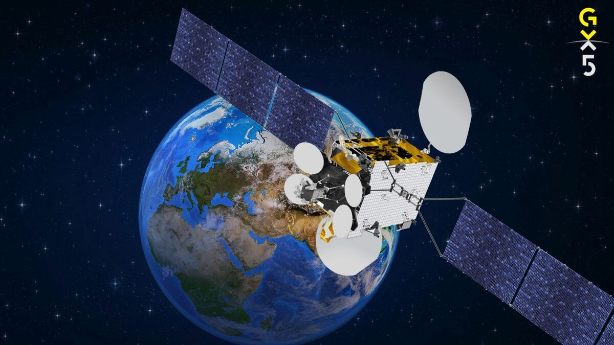 Inmarsat's GX5 satellite provides coverage over Europe and the Middle East (source: Inmarsat)