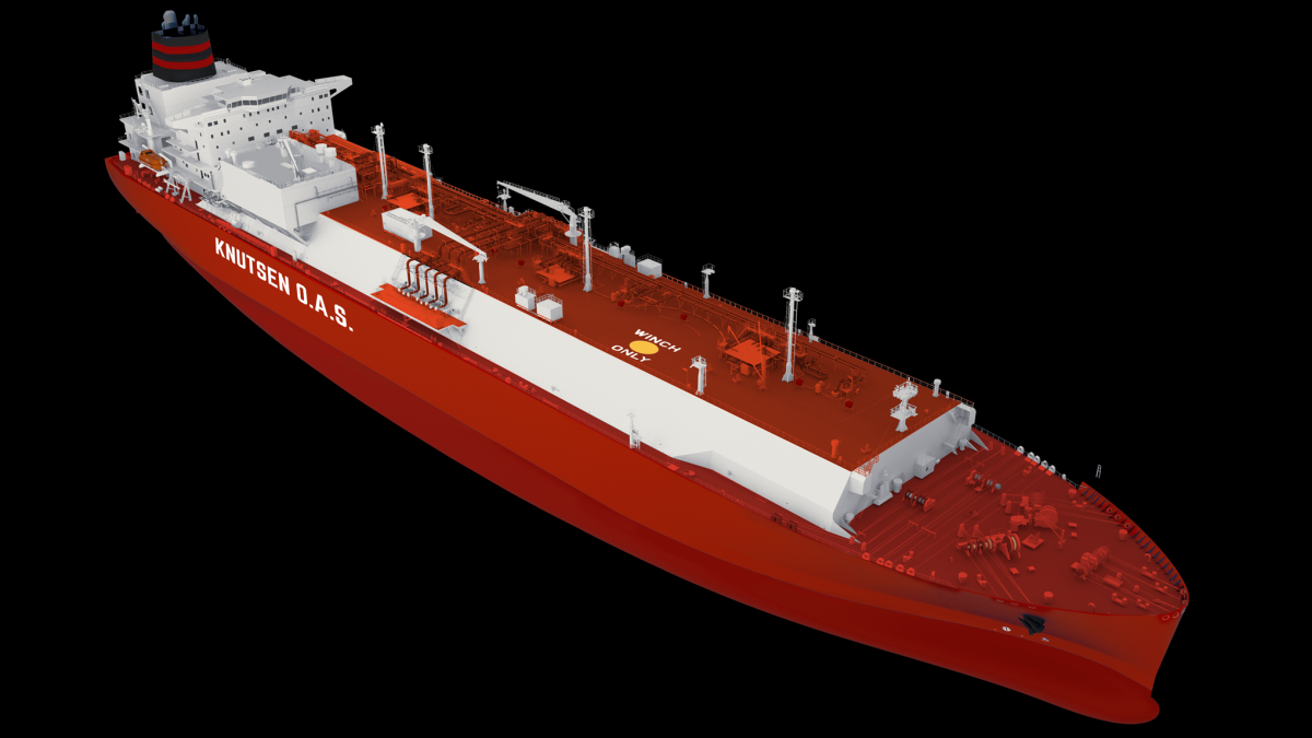 Artist impression of Knutsen OAS' LNG carrier to be fitted with WE Tech systems (source: Knutsen)