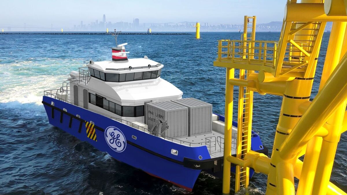LD Tide's CTVs for the Saint-Nazaire offshore windfarm will have a semi-SWATH hullform, hybrid propulsion and will be hydrogen ready