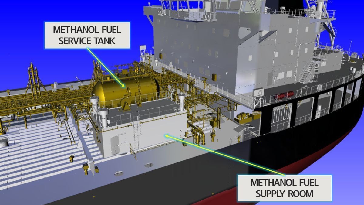 AiP given for methanol-powered product tanker design
