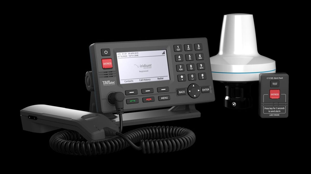 LT-3100S terminal is the first for Iridium GMDSS (source: Lars Thrane)