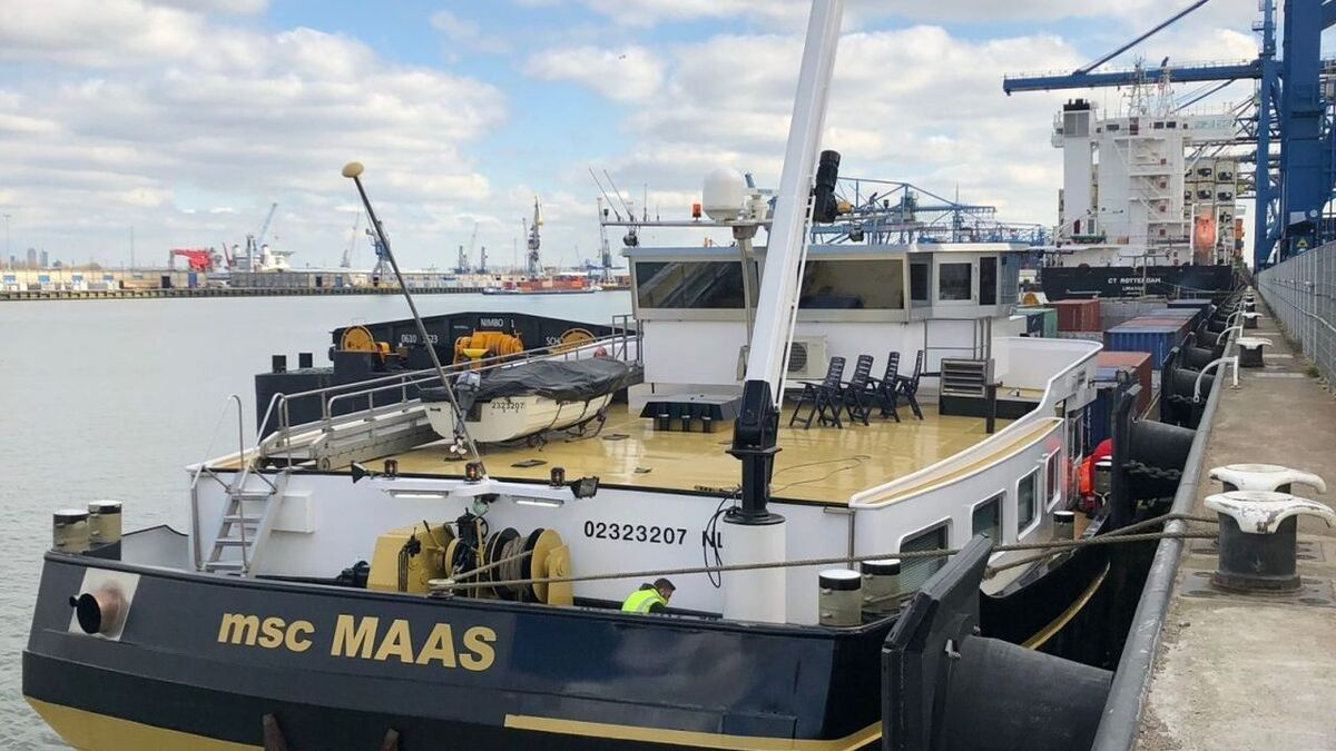 MSC Maas inland vessel is being retrofitted to hydrogen fuel (source: FPS)