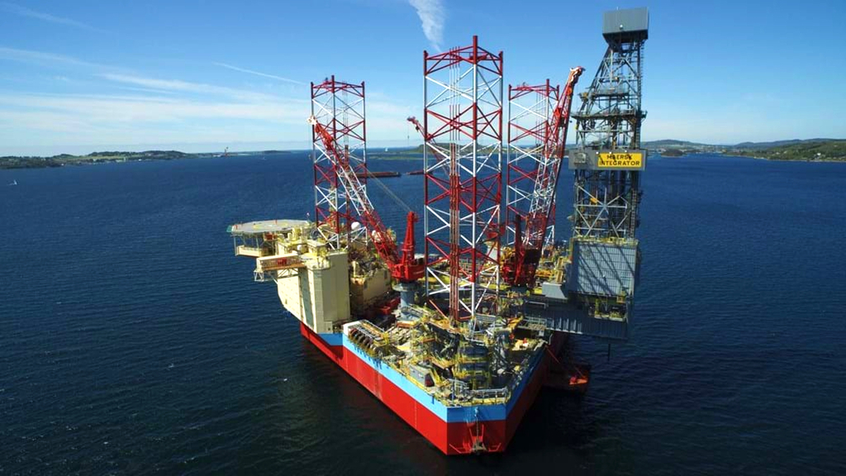 Maersk Integrator is being upgraded with low-emissions technology before drilling in the Norwegian North Sea in 2021 (source: Maersk Drilling)