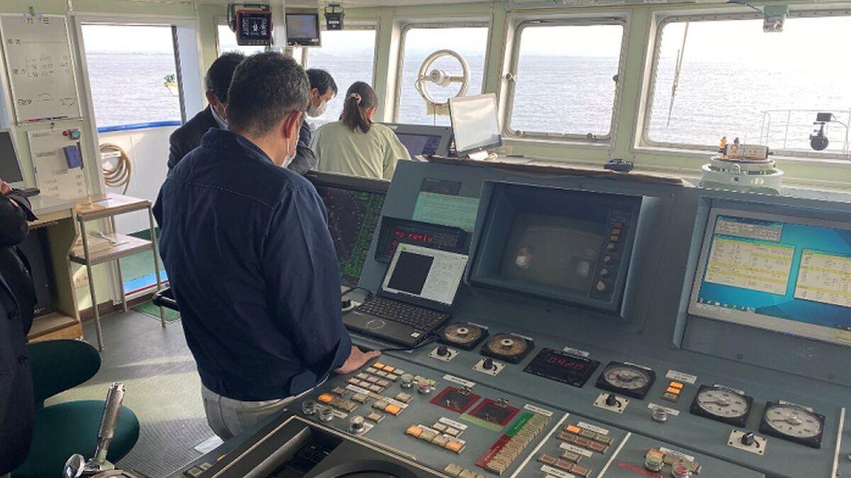 NYK AI-driven navigation on training ship Fukae Maru (source: NYK)