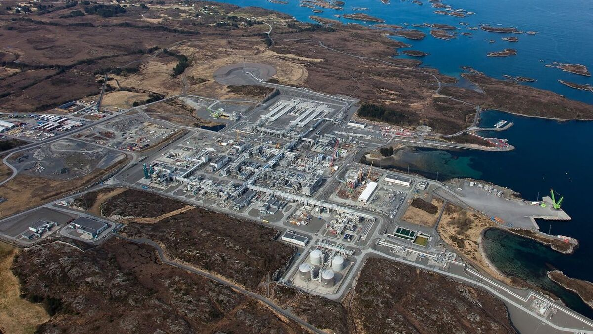 Aker Solutions will work on Norske Shell's Nyhamna gas plant in mid Norway (source: Shell)