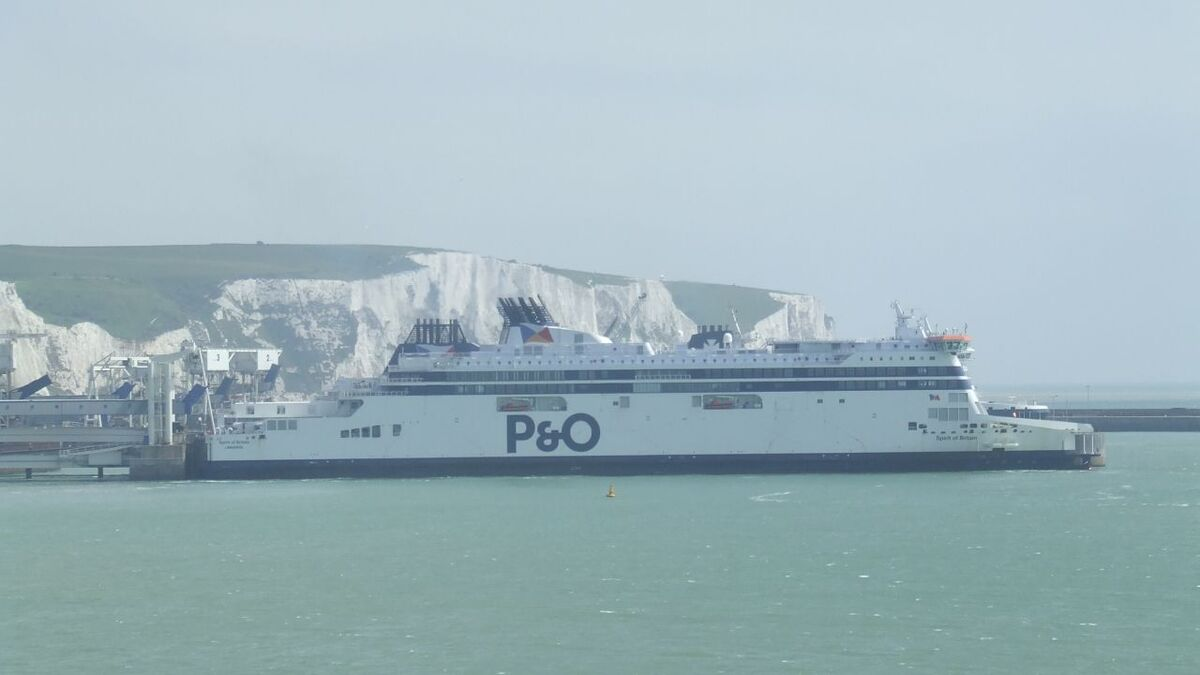 P&O ferries remain in dock in Dover UK as France closes UK border (source: RMM)