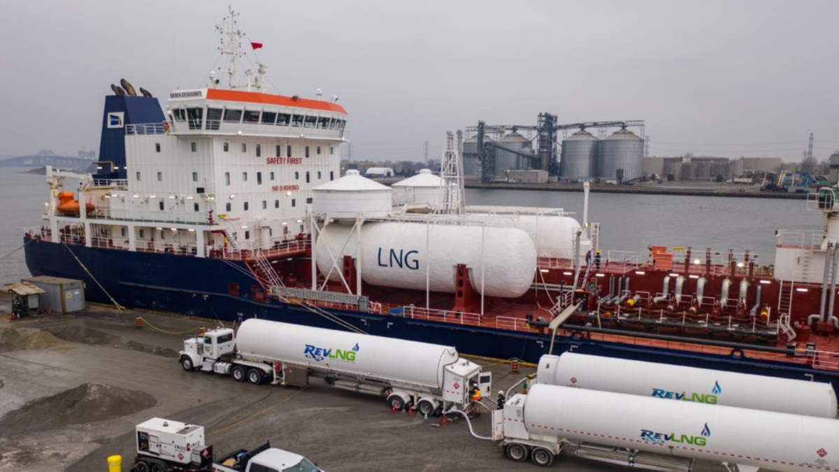 LNG for the bunkering was supplied from a new production facility in Pennsylvania (source: HOPA)