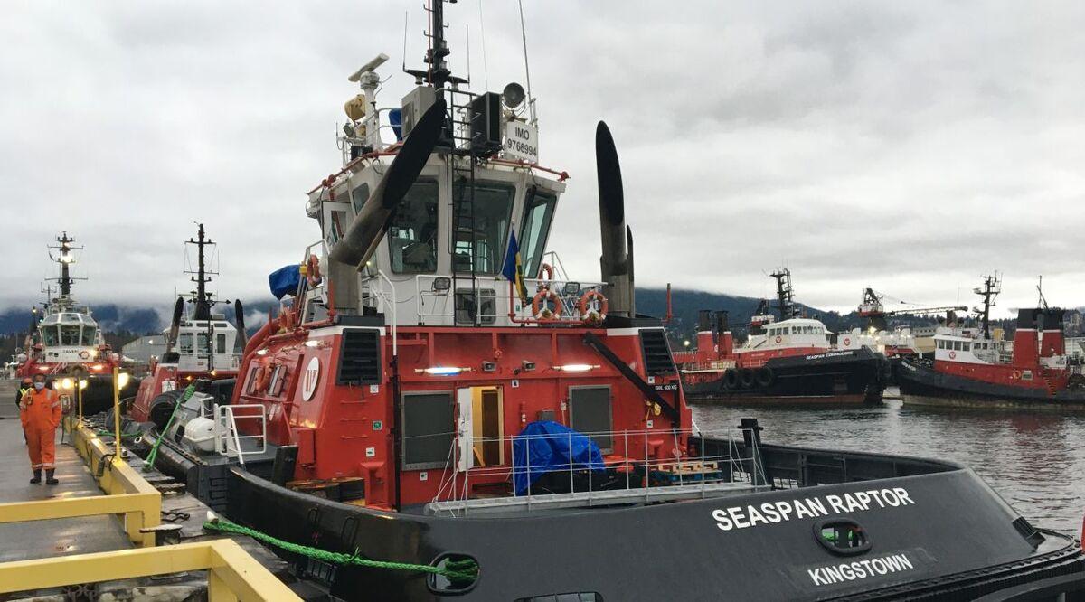 Seaspan Raptor arrives in Vancouver, Canada to start work for Seaspan (source: Sanmar)