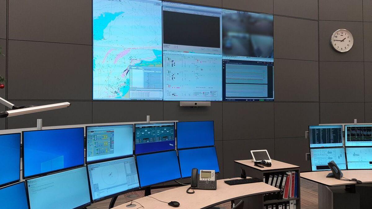 Wartsila Navi-harbour WebVTS in Wintershall's control room (source: Wintershall)