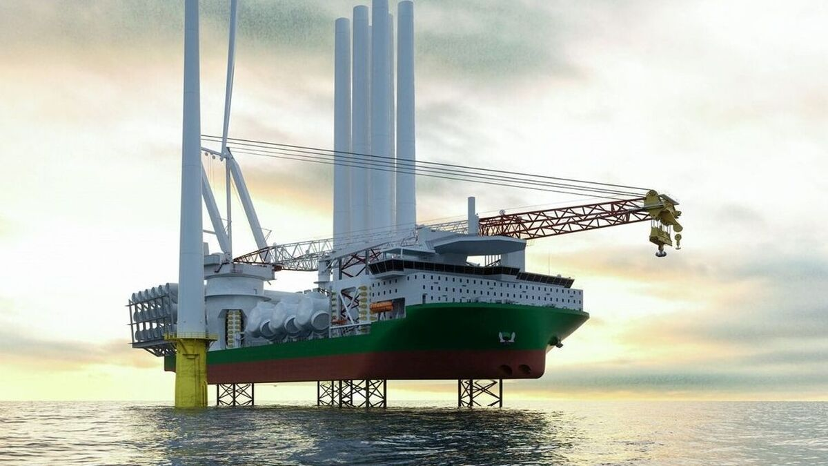 Knud E Hansen's turbine installation vessel design has batteries that supply instant power, reducing the need for spinning reserve