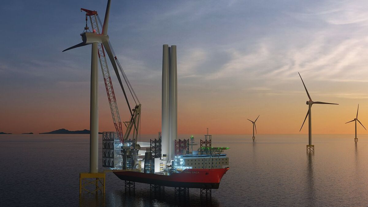 Wind Orca's new crane will have a lifting capacity of 1,600 tonnes at 40 m, with the main hook at a height of 159.7 m above the main deck