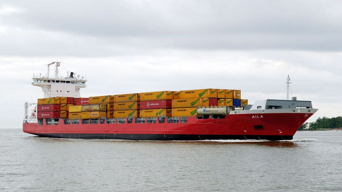 Pictured: Langh Aila. Langh Ship has added two other box ships to its fleet (Image: Langh Ship Oy)