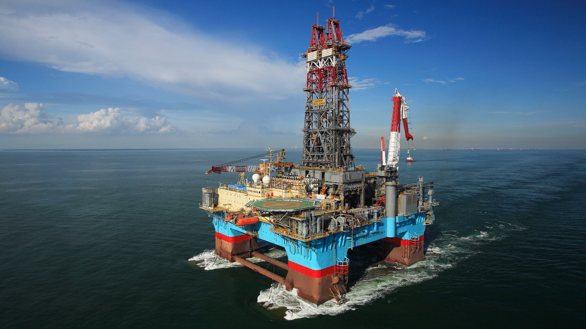 Semi-submersible Maersk Developer encountered hydrocarbons while drilling in the Suriname-Guyana basin (source: Maersk Drilling)