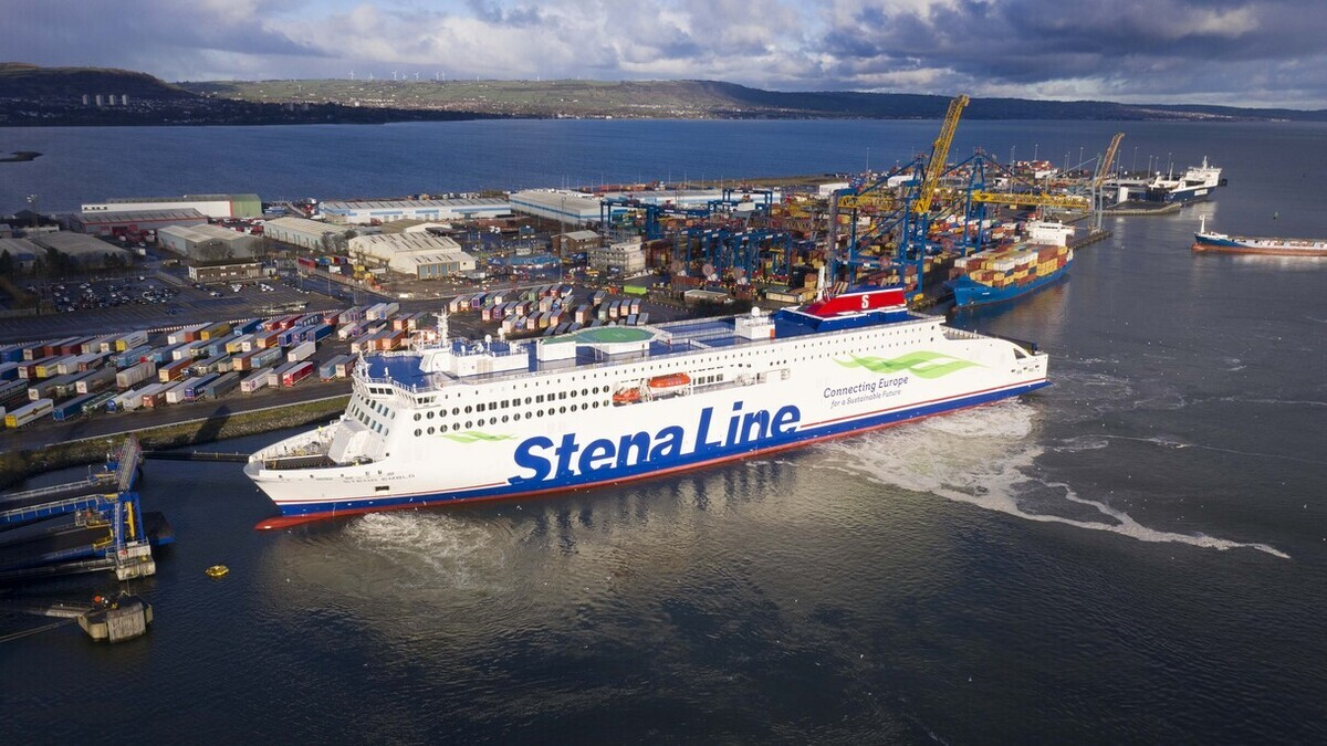 Stena Embla provides a significant 20% increase in freight capacity for the route (Image: Stena Line)