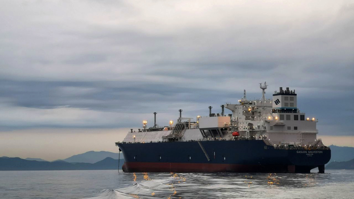 GasLog Galveston is one of 12 LNG carriers in GasLog's controlled fleet that will have X-DF propulsion (source: GasLog)