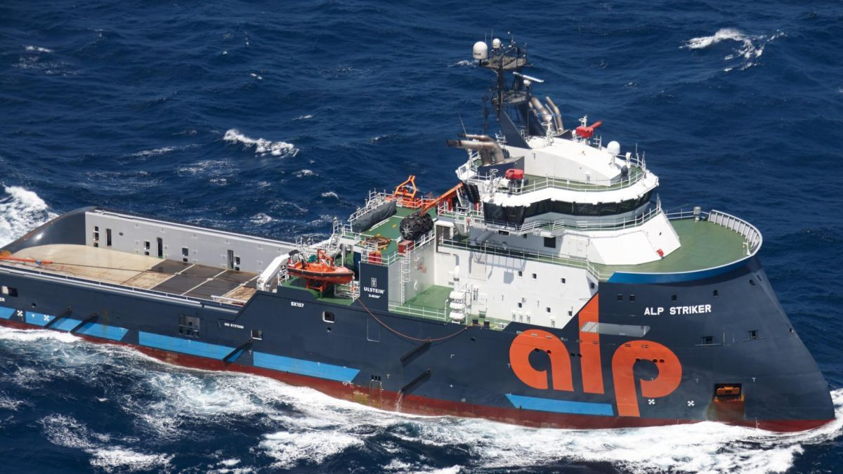 ALP Striker is the most powerful oceangoing tug with 309 tonnes of bollard pull