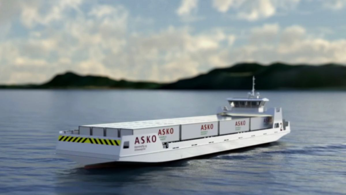 ASKO's battery-driven roros will initially operate with a reduced crew, before moving towards uncrewed voyages