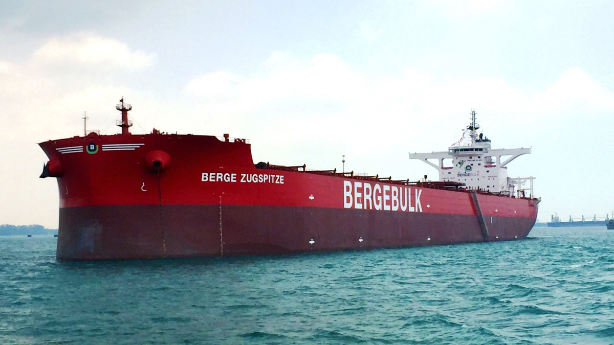 Berge Zugspitze was the first Isle of Man-registered ship to have its annual class and statutory survey carried out remotely (source: IOMSR)