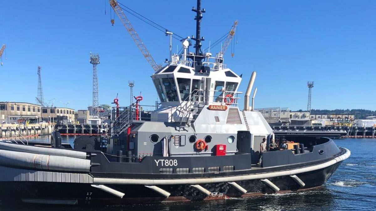 Caterpillar supplied engines for YT 808 US Navy tugs (source: Dakota Creek Industries)