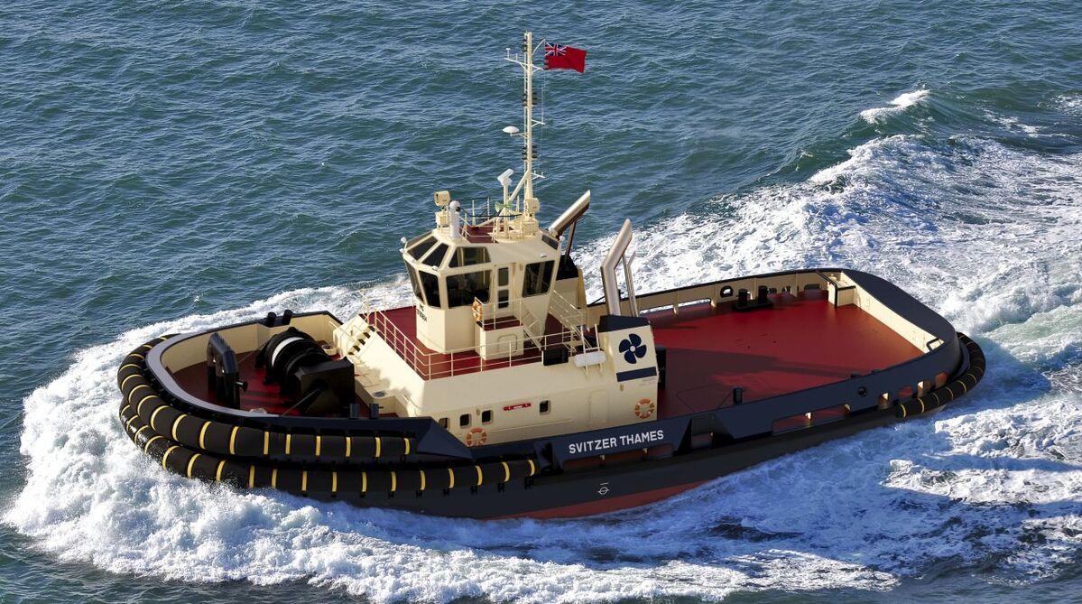 Damen ASD 3212 tug Svitzer Thames is destined for the Port of London (source: Svitzer)