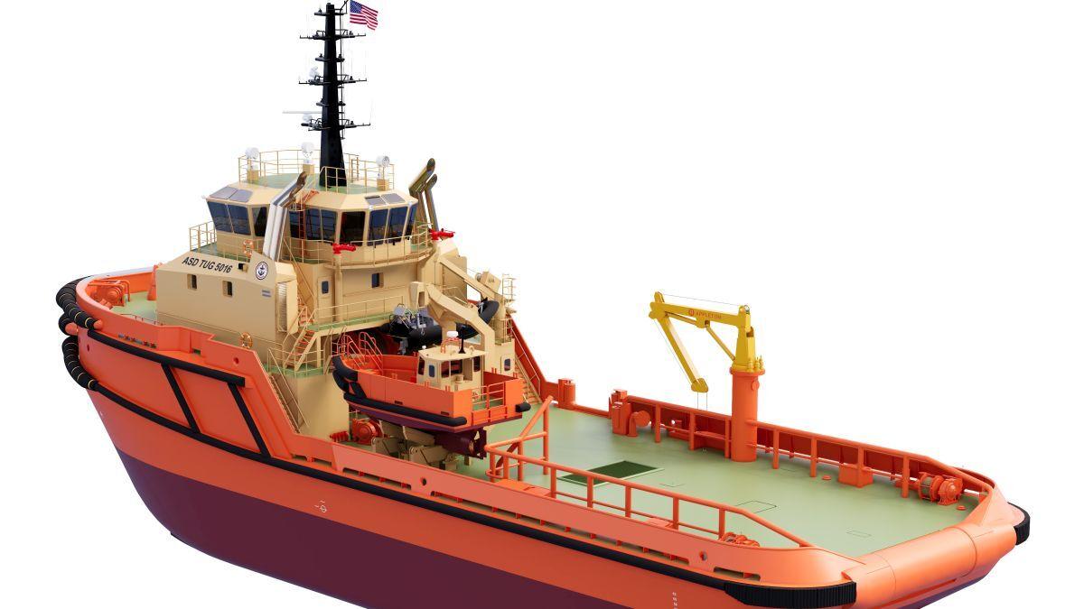 Edison Chouest will build two terminal support vessels to a Damen ASD 5016 design (source: Damen)