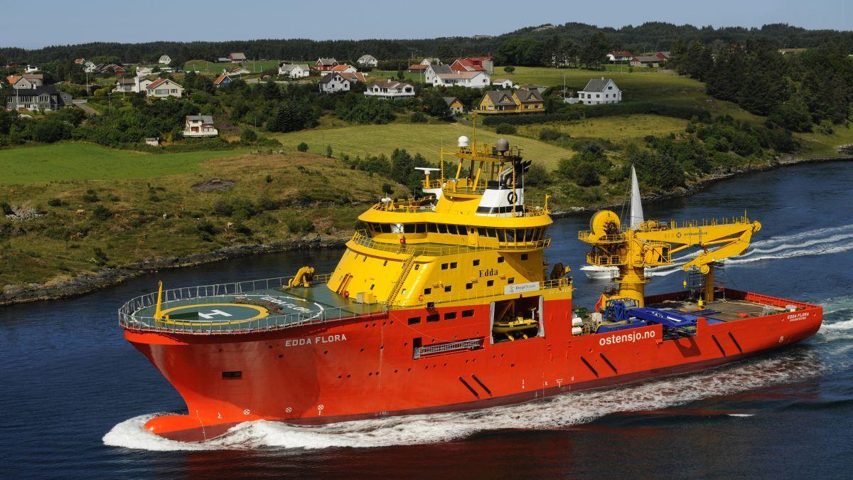 Østensjø Rederi's Edda Flora is one of two light construction vessels that will be refit with batteries (source: Østensjø Rederi)