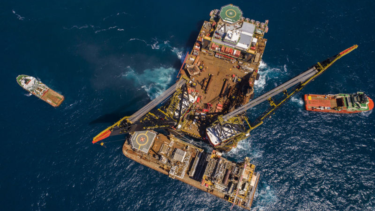 For the Sable Project, HMC removed some 48,000 tonnes of offshore facilities for recycling (source: HMC)