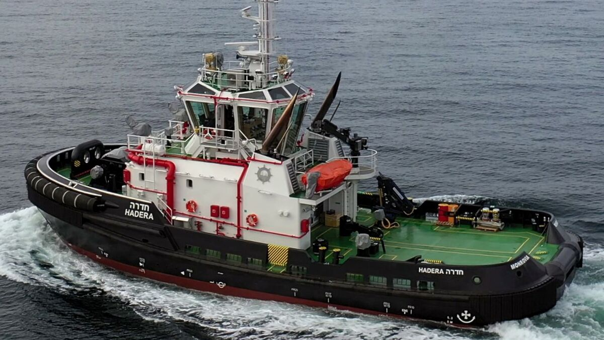 Hadera tug was built by Med Marine for NCSC to a Robert Allan design (source: Med Marine)