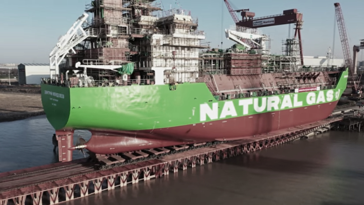 Russia's first LNG bunker vessel launched