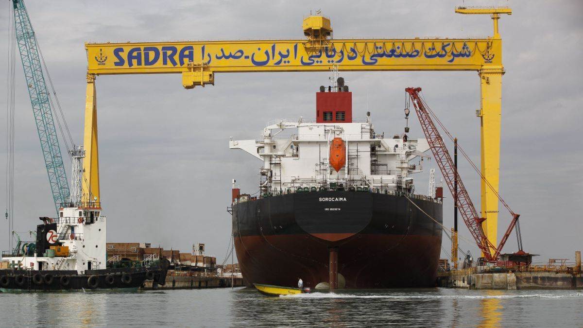 Iran launches domestically constructed Aframax tanker
