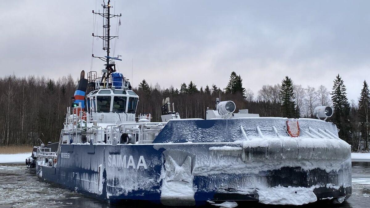 Saimaa is a removable icebreaking bow powered by Danfoss Editron (source: Danfoss)