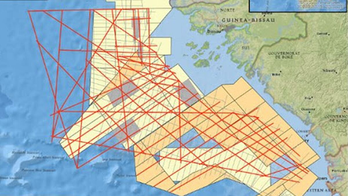 TGS Nopec seismic survey data offshore Guinea and Guinea-Bissau (source: TGS)