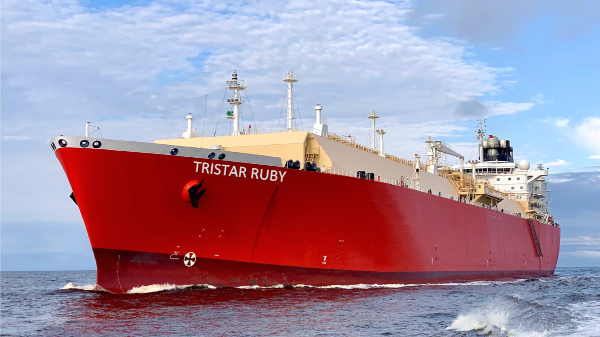 Under long-term charter with BP, Tristar Ruby brought the first LNG import cargo to Croatia from the US  (source: Tristar Group)