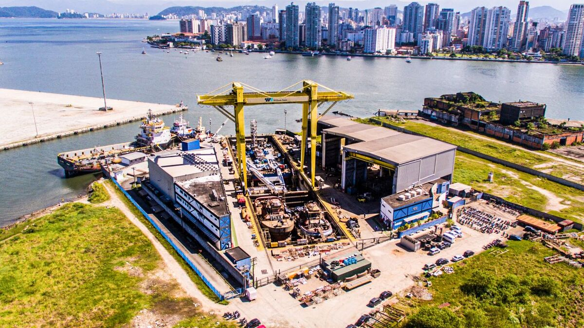 Wilson Sons shipyard in Guaruja, Brazil will build six escort tugs (source: Wilson Sons)