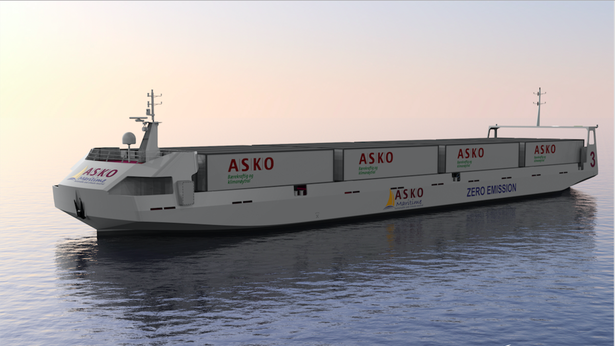 ASKO's autonomous roro vessels are designed for transporting trailers across Oslo Fjord between two of ASKO's distribution centers (Image: Schottel/Naval Dynamics)
