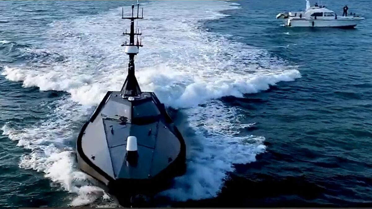 Autonomous navigation of a vessel at Thales' marine test area in England (source: tpgroup)