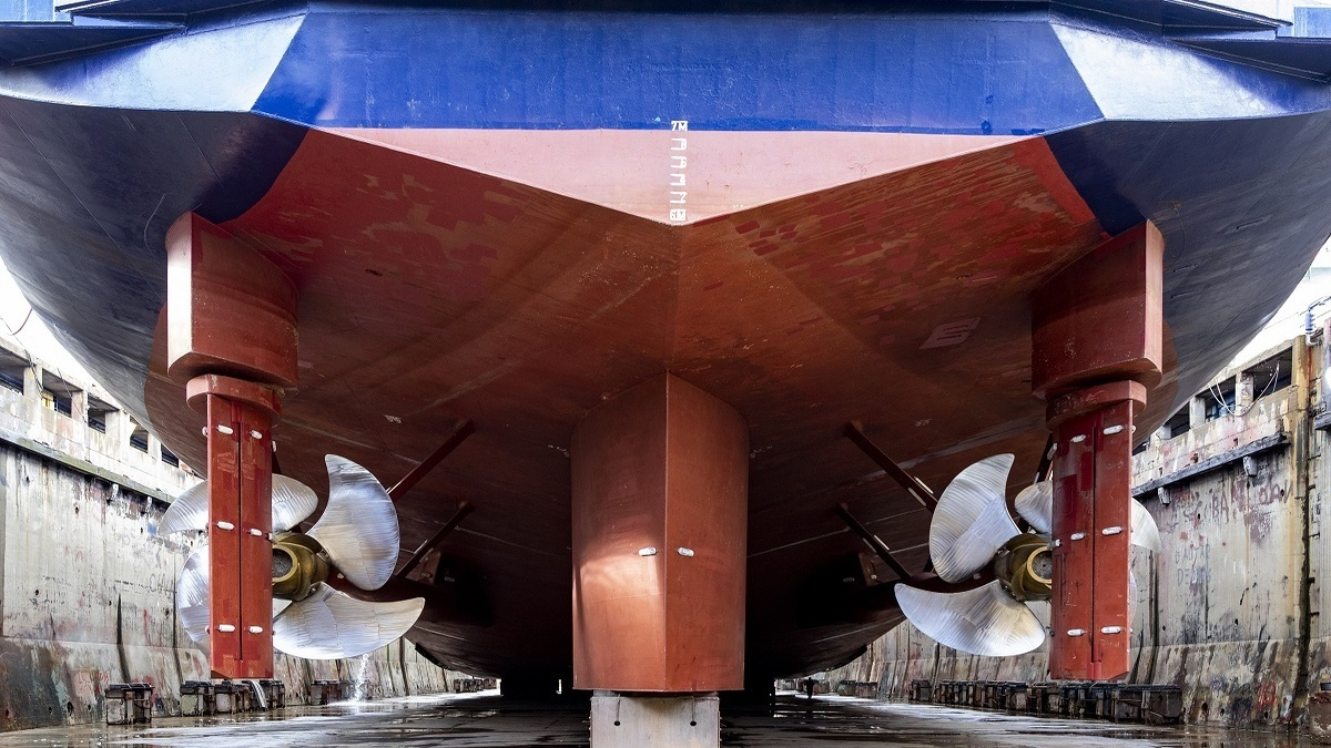 Pride of Canterbury sports Van der Velden BARKE rudder systems engineered and made by Damen Marine Components (Image: Damen)