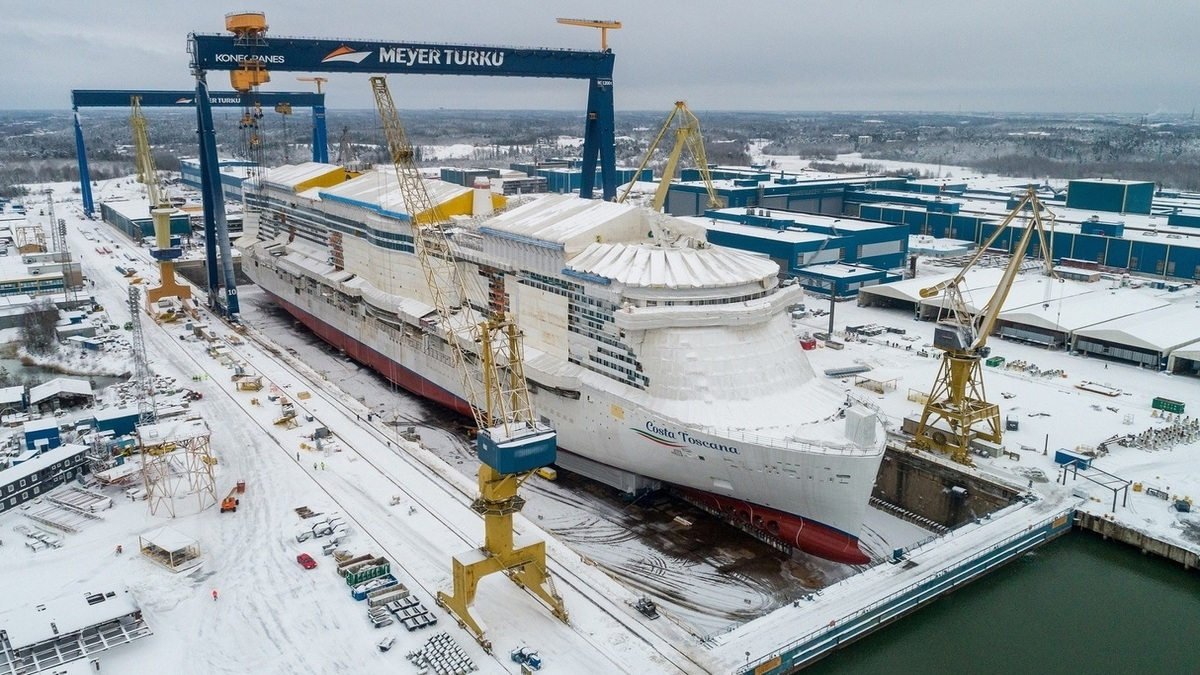 Costa Toscana floated out at Meyer Turku shipyard