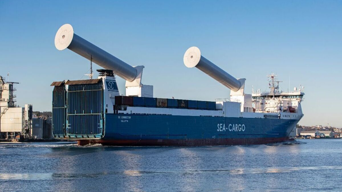 Sea-Cargo roro will feature tiltable Norsepower rotor sails