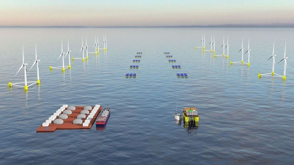 In the OCEANH2 project, ACCIONA is examining industrial-scale production of green hydrogen from offshore wind and floating solar power