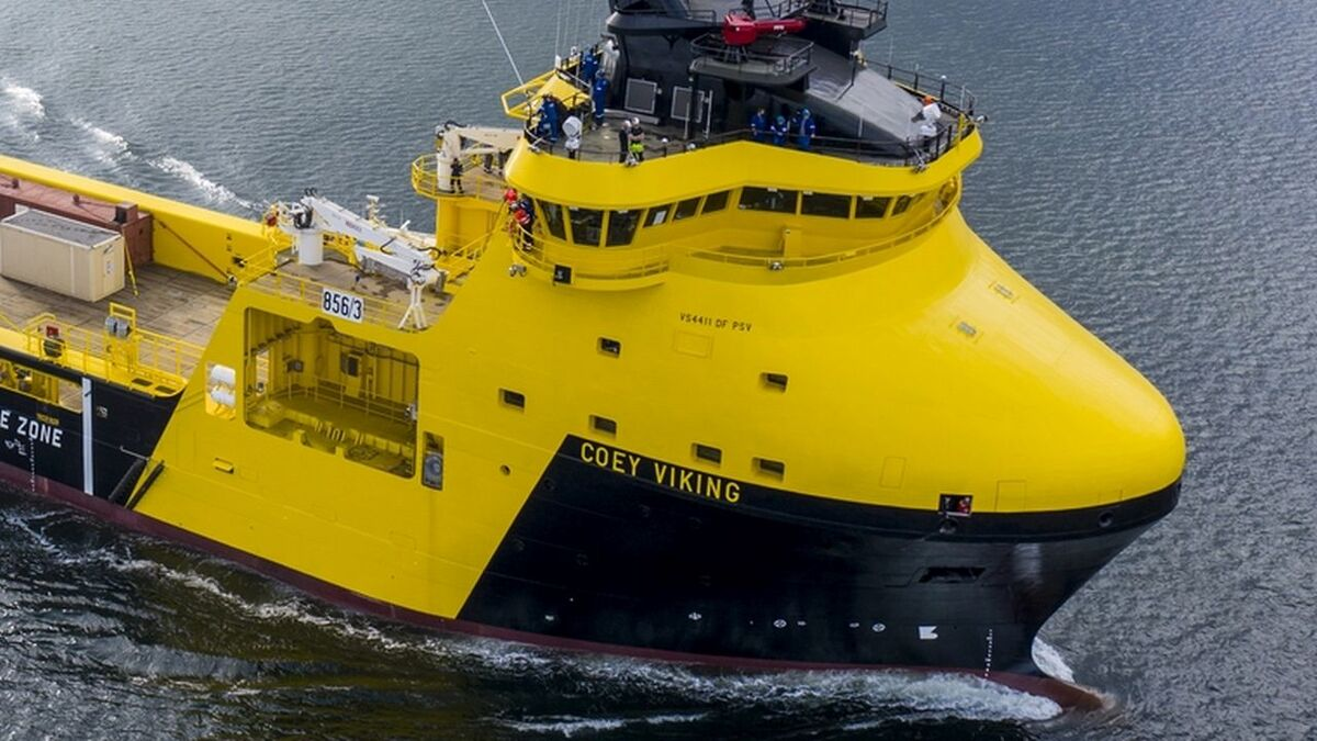 Remontowa delivered LNG-powered Coey Viking PSV with a battery pack (source: Remontowa)