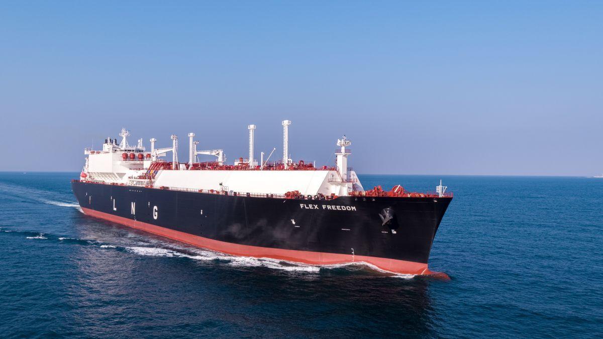Flex Freedom went straight to the sky-high spot charter market (source: Flex LNG)