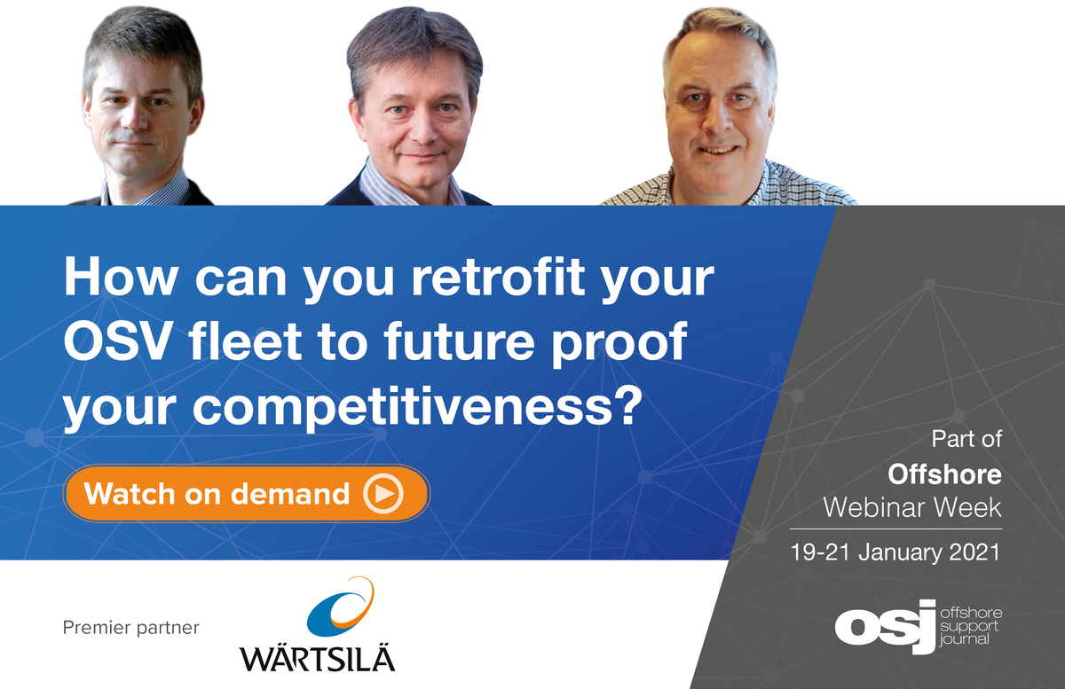 Panellists in Offshore Week Webinar on OSV retrofits