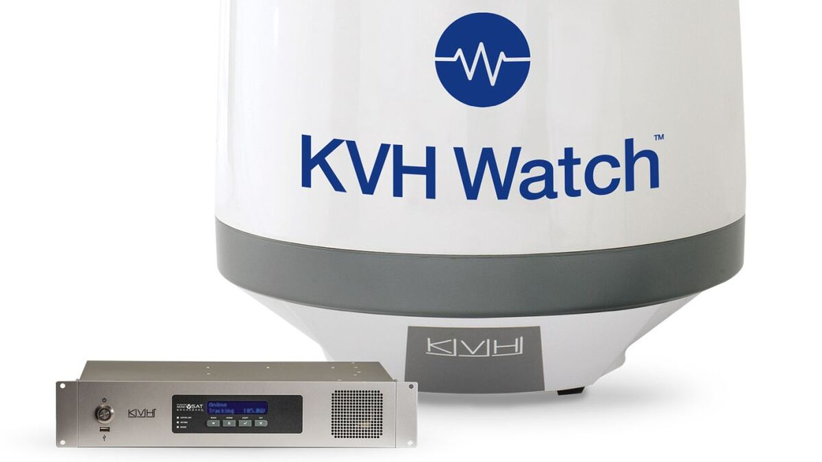 KVH Watch has a dedicated antenna and ICU for IoT data transfer