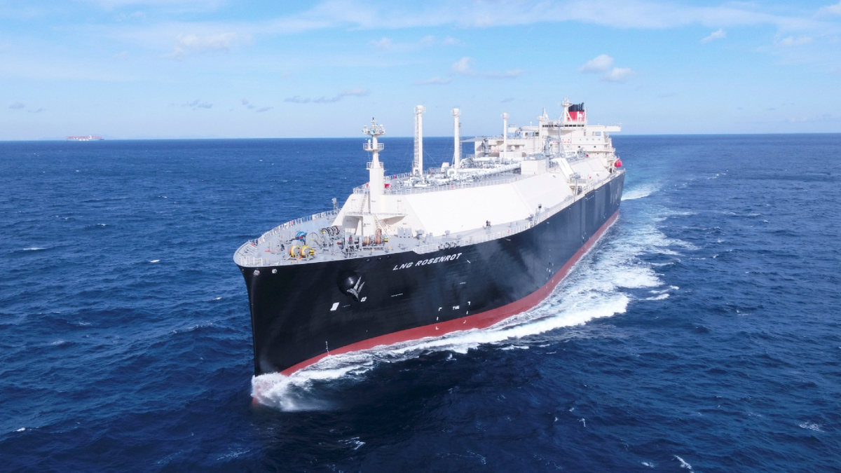 LNG Rosenrot is fitted with X-DF propulsion and a full reliquefaction system for fuel and energy efficiency (source: MOL)