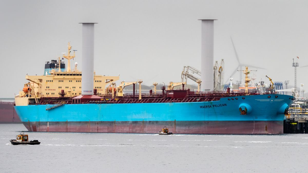 Norsepower: first to market and tested on Maersk Pelican (source: Norsepower)